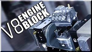 5-axis Cnc Machined V8 Engine Block