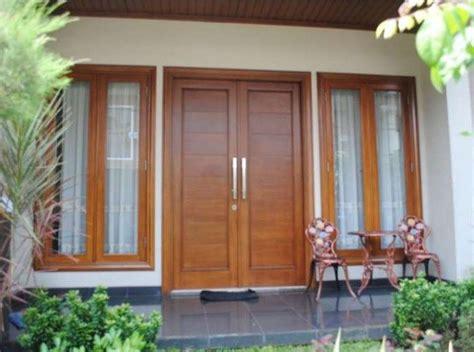 contoh motif desain model gambar kusen kayu pintu