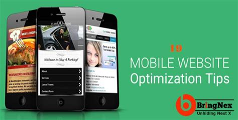 Site Optimization by Optimizing Websites For Mobile Users 19 Tips