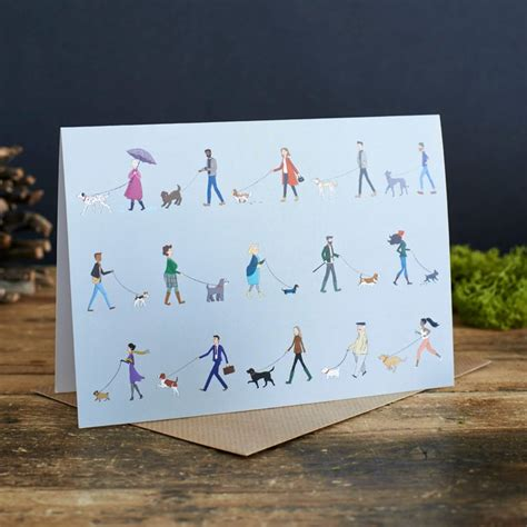 dog walker gifts greeting card awesome walkers