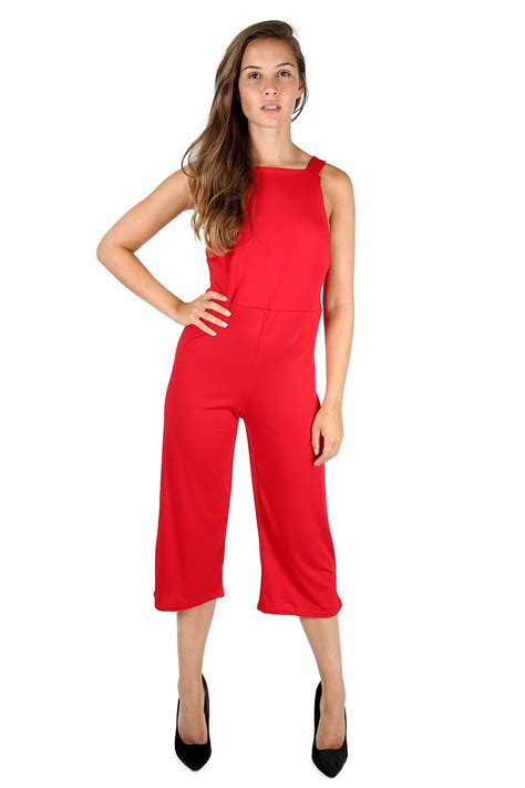 one jumpsuit womens womens 3 4 length all in one wide leg palazzo