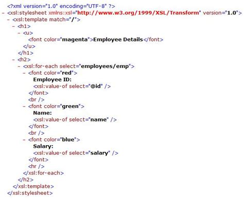 xsl template applying xslt stylesheet to an xml file at runtime codeproject