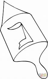 Dreidel Coloring Pages Printable Drawing Dot sketch template