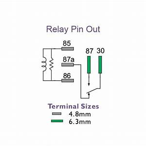 micro relay 12 volt change over 5 pin 35 20 amp With 5 pin relay diagram