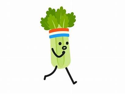 Clipart Celery Gifs Run Transparent Cartoon Vegetable