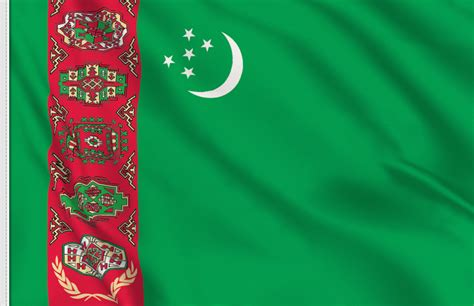 turkmenistan flag sticker  buy flag sticker