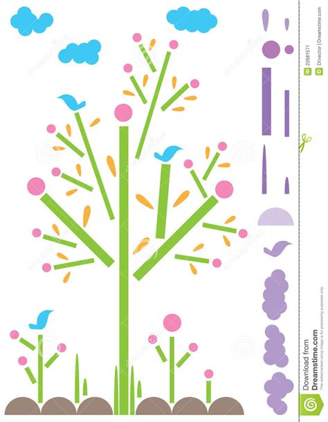 Natural Contact Paper Cut Template eps Stock Image Image