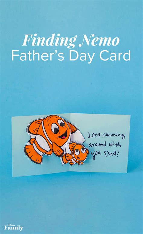 finding nemo pop  fathers day card disney family
