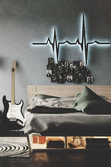 Roll kids rockstar bedroom interesting music themed bedrooms | modern world. 35 Ideas To Organize And Decorate A Teen Boy Bedroom - DigsDigs