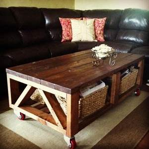 Add casters to this your diy coffee table best made for White coffee table with wheels