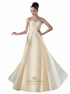 Light Flowy Wedding Dress Flowy Pale Yellow Sweetheart Empire Floor Length