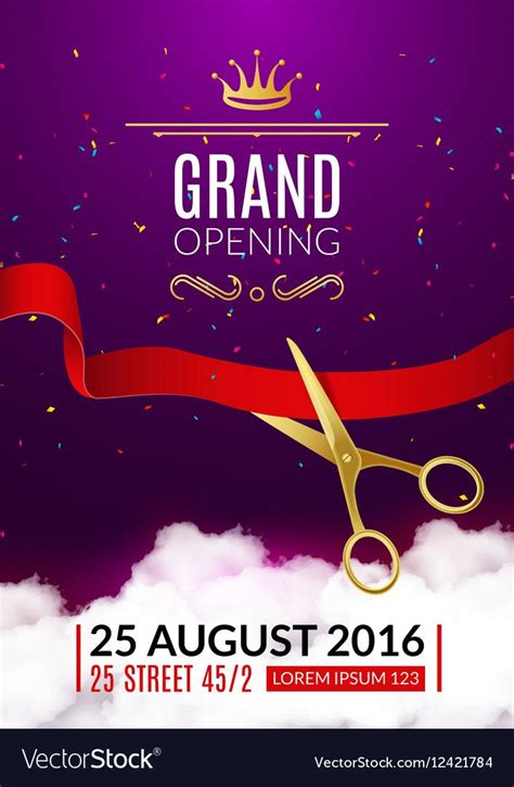 grand opening invitation card grand opening event vector