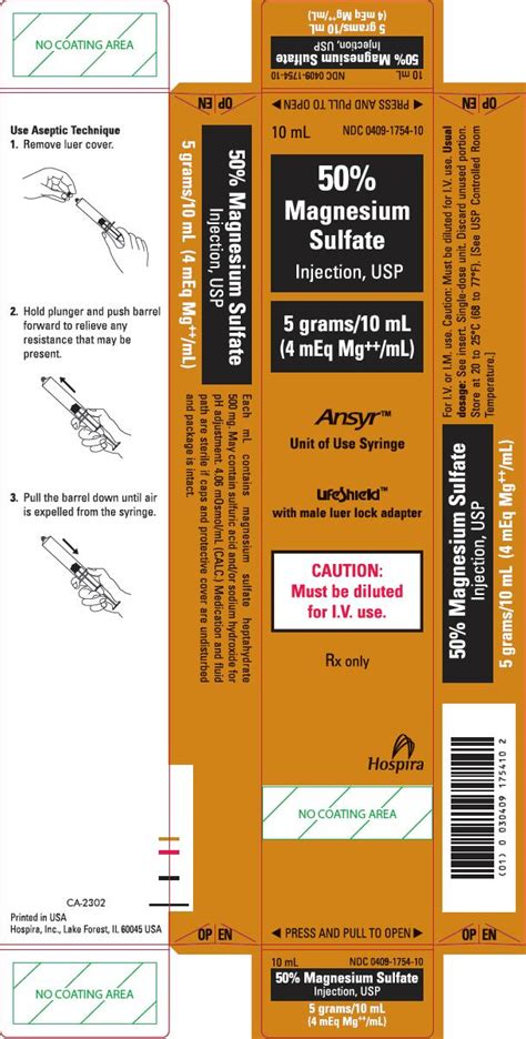 magnesium fda prescribing information side effects