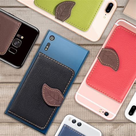 Supcase adhesive slim wallet, credit card holder sticker cell phone wallet case. Business Credit Pocket Adhesive Cell Phone Holder ID Card Holder safe Slim Case sticker on ...