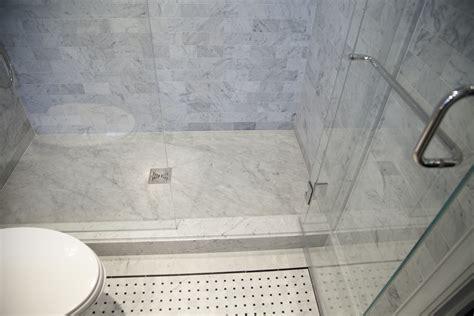 master bathroom  carrara marble complete tile