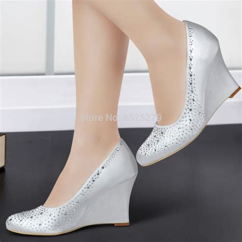 silver wedge bridesmaid shoes popular chagne wedge shoes buy cheap chagne wedge shoes lots from china chagne wedge