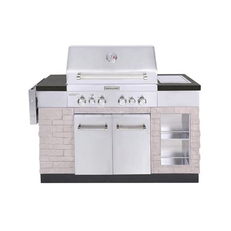 Kitchenaid Island Grill by Kitchenaid 4 Burner Propane Gas Island Grill In Stainless