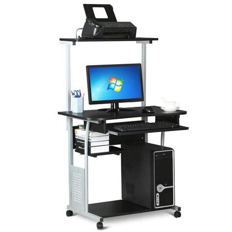 2 tier computer desk world pride 2 tier computer desk with printer shelf stand