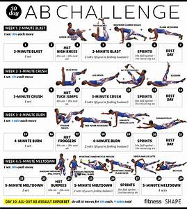 30-Day Ab Challenge: One Month to Flatter Abs | Abdominal ...