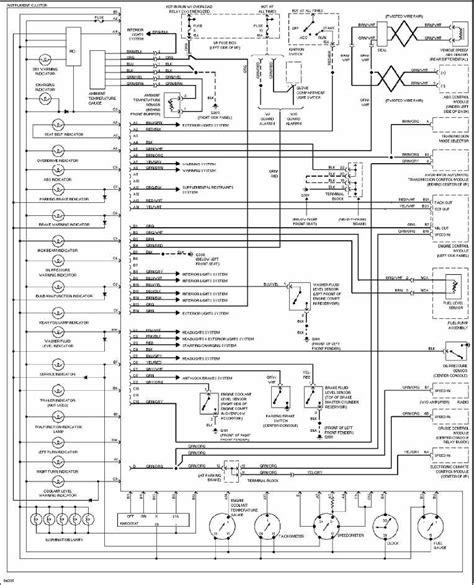 volvo 960 1997 instrument cluster wiring diagram all