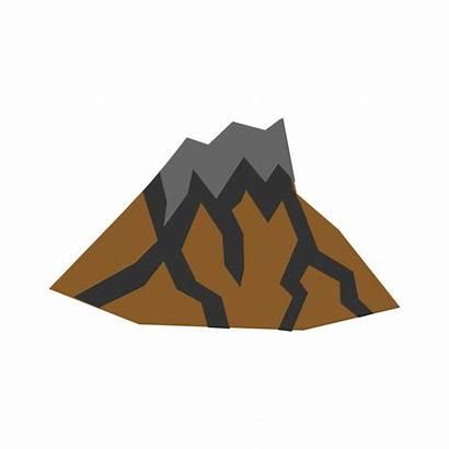 Volcano Clipart Dormant Clip Vector Inactive Lava