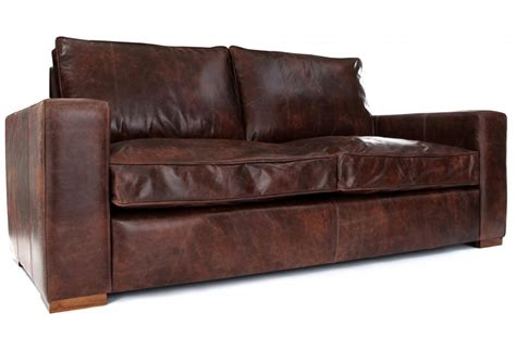2 seater leather sofa bed battersea vintage leather 2 seater sofa bed from old
