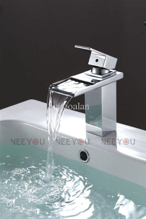 sell bathroom deck mounted waterfall basin faucet