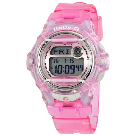 casio baby g casio baby g pink resin digital bg169r 4