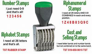 tst rubber stamp number alphabet and alphanumeral stamps With letter and number ink stamps