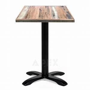 Alvina Recycled Timber Industrial Cafe Table Apex
