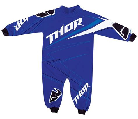 infant motocross thor mx clothing 2015 stripe blue onesie boys motocross