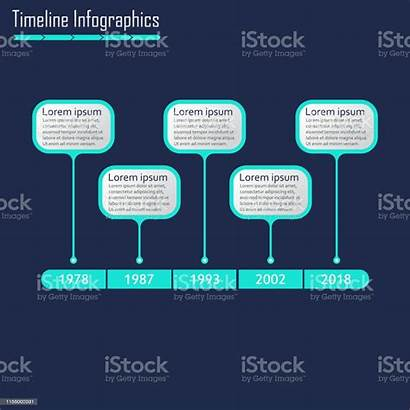 Timeline Infographic Horizontal Template Infographics Vector Elements