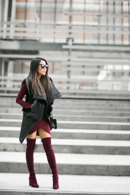 Layered Vests Quilted Vest And Burgundy Boots Wendys