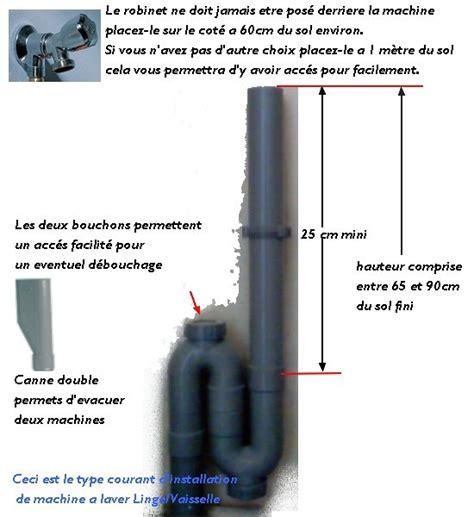 meuble cuisine lave vaisselle info schéma d 39 évacuation et d 39 installation de machine a