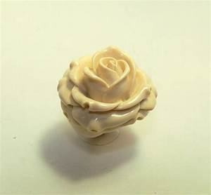 Rose ring ivory ring flower promise rings unique flower for Ivory wedding rings