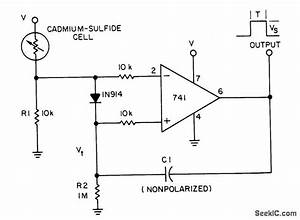 Monostable Photocell Circuit Has Self Adjusting Trigger