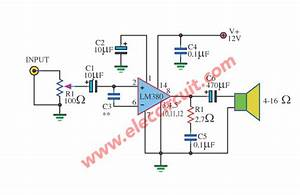 Mini Audio Amplifier Circuit  U2013 Electronic Projects Circuits