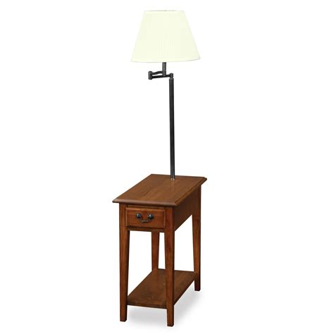 leick chair side l end table with drawer