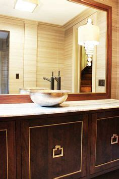 sink kitchen cabinet spa like bathroom with custom vanity and built in mirror 6563