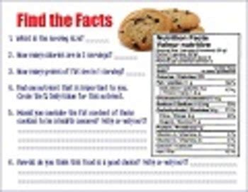 analyzing a nutrition label worksheet by mspowerpoint tpt
