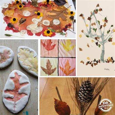 16 fall nature crafts for preschoolers 860 | fall nature art