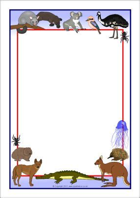 australian animals  page borders sb sparklebox