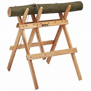 Chevalet Coupe Bois : chevalet de sciage en bois accessoire tron onneuse ~ Premium-room.com Idées de Décoration
