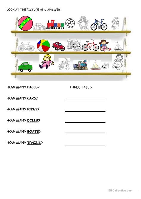 How Many ? Worksheet  Free Esl Printable Worksheets Made By Teachers