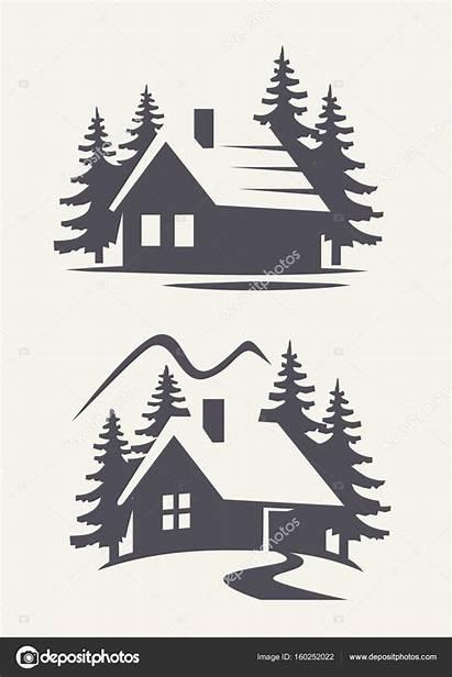 Cabin Icon Stencil Stencils Wood Svg Burning