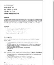 human services resume summary professional human service worker templates to showcase your talent myperfectresume