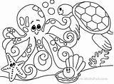 Ocean Animals Coloring Sea Pages Printable Animal Getcoloringpages sketch template