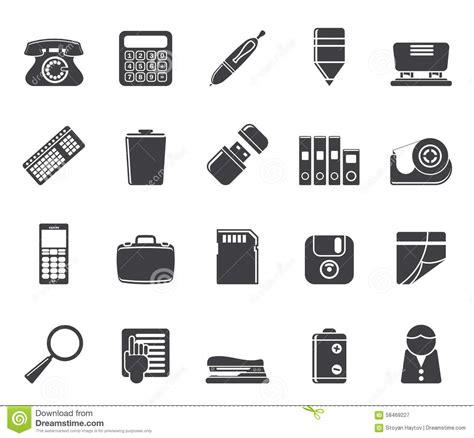 icones de bureau le bureau simple de silhouette usine des icônes