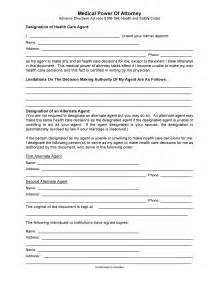 Texas Medical Power of Attorney Form Template
