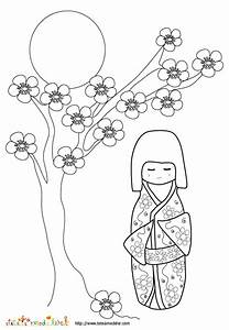 Maison Japonaise Dessin : coloriage de maison japonais ~ Melissatoandfro.com Idées de Décoration